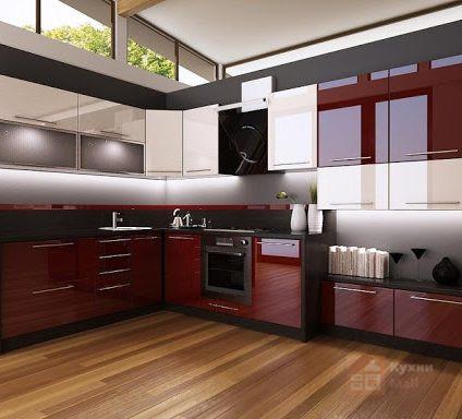 Кухня Бордовая роза