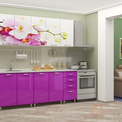 Кухня Нежная орхидея